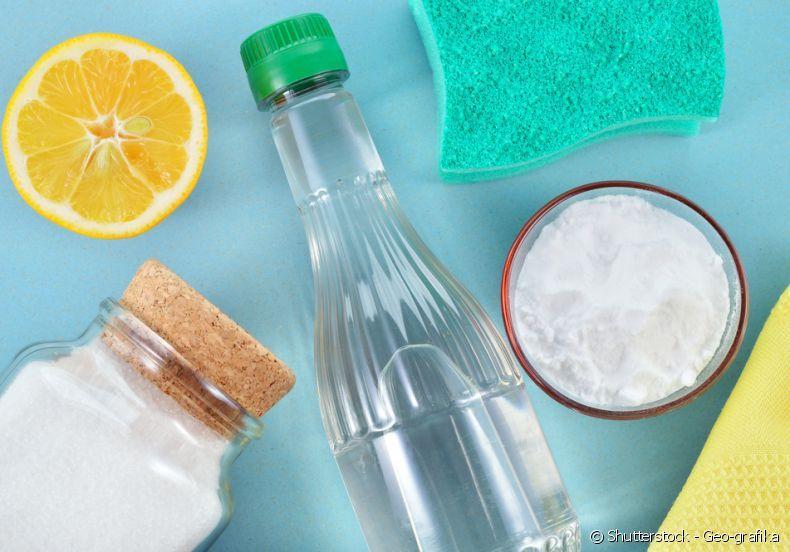 Utilize bicarbonato de sódio e vinagre