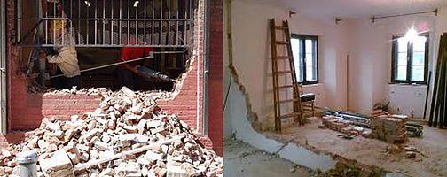 Remoção de paredes sem análise técnica